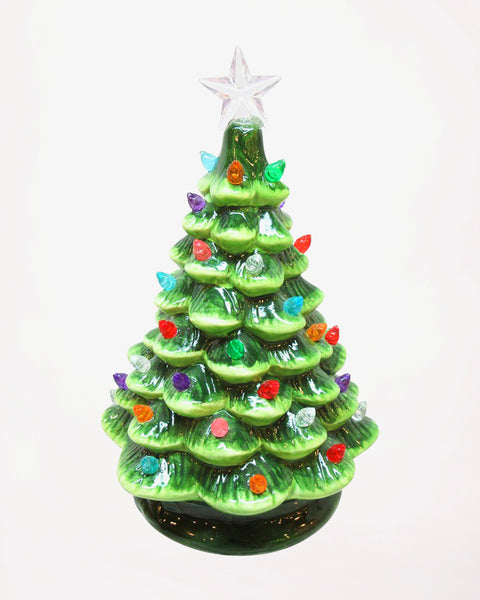 Christmas Holiday Ceramic Light Up Tree Decoration Gift Savvy Chic Boutique Cleveland Ohio