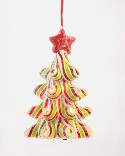 Christmas Holiday Candy Cane Light Up Christmas Tree Ornament Decoration Gift Savvy Chic Boutique Cleveland Ohio
