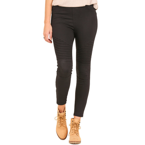 Umgee Black Stretch Moto Legging Savvy Chic Boutique Ohio