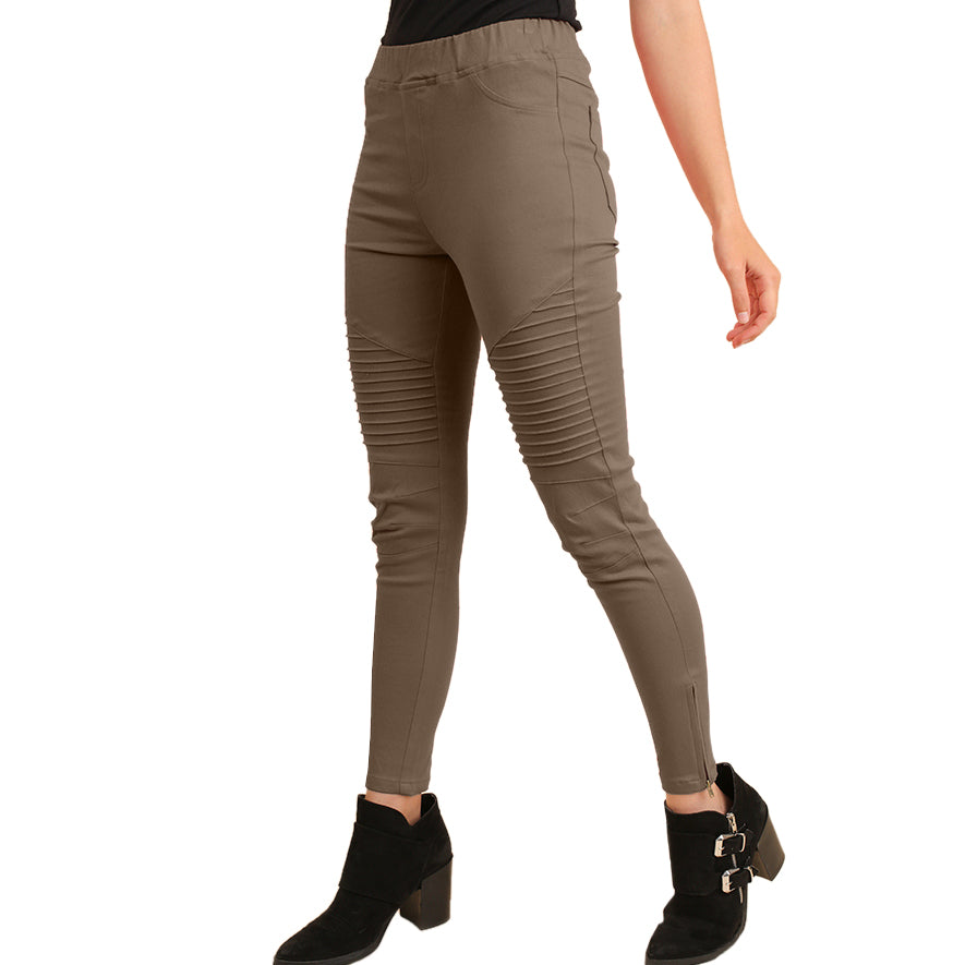 Umgee Olive Green Stretch Moto Legging Savvy Chic Boutique Cleveland Ohio