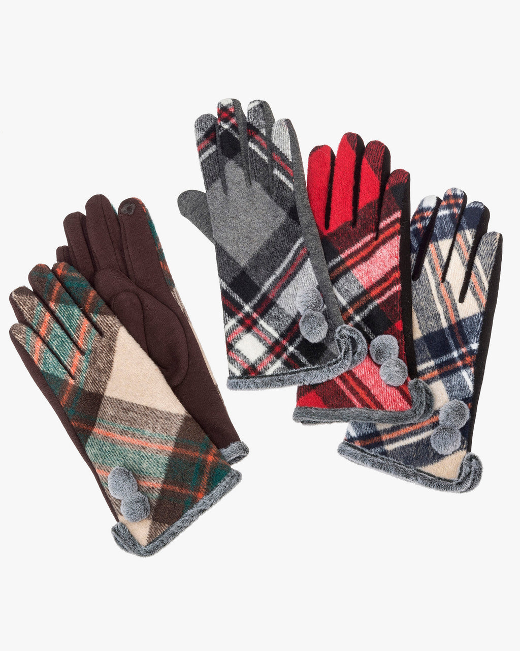 Plaid Texting Glove