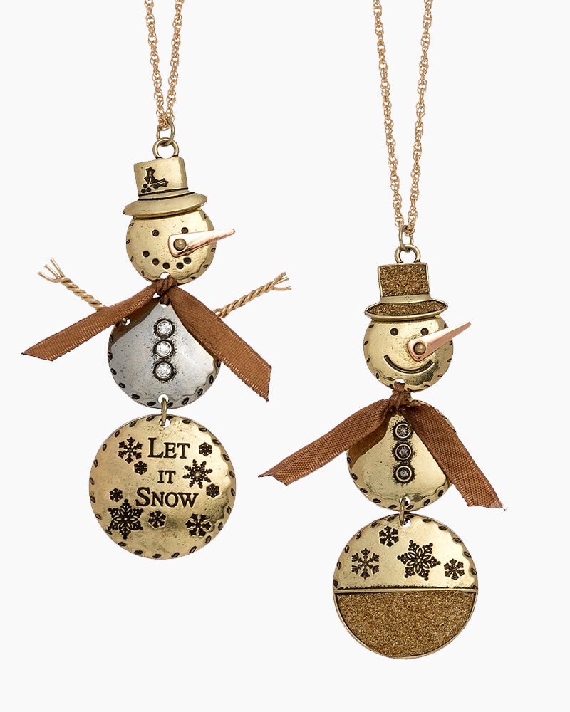 Snowman Pendant Necklace