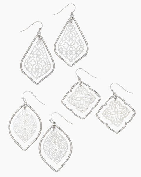 Concentric Filigree Earrings