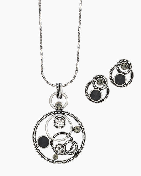 Open Circles Necklace & Earring Set