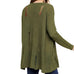 Umgee Green Distressed Tears Rips Knit Sweater Cardigan Savvy Chic Boutique Cleveland Ohio