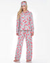 Three Piece Pajama Set - Rose