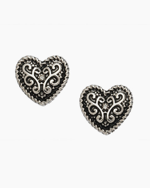 Filigree Heart Earring