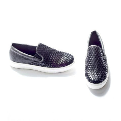 Black Pink Martini Weave Around Town Slip On Shoe