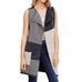 Staccato Grey Charcoal Long Knit Color Block Stripe Vest Savvy Chic Boutique Cleveland Ohio