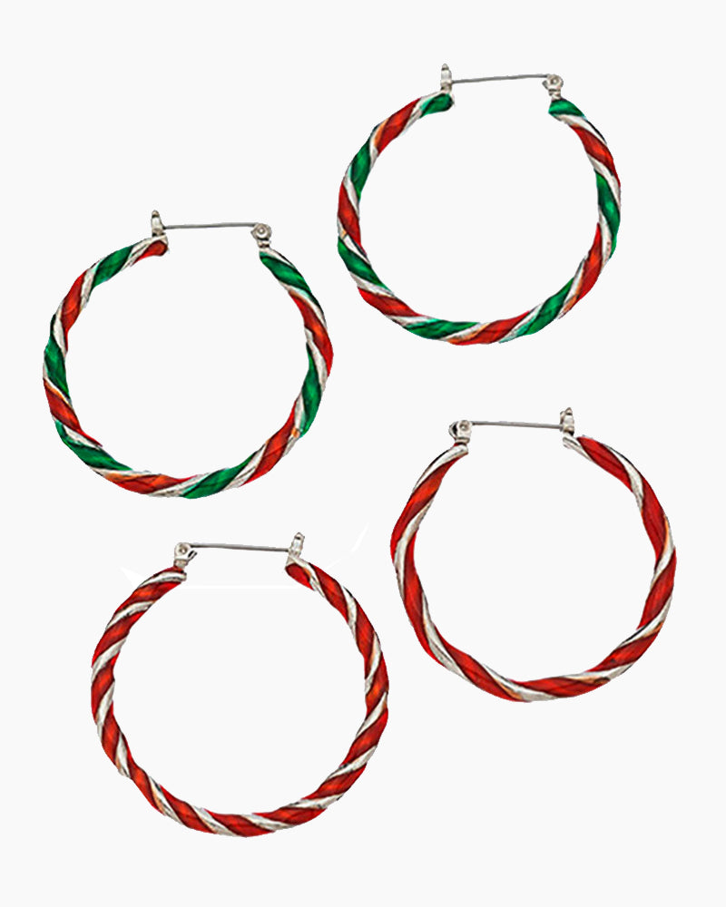 Holiday Hoop Earrings