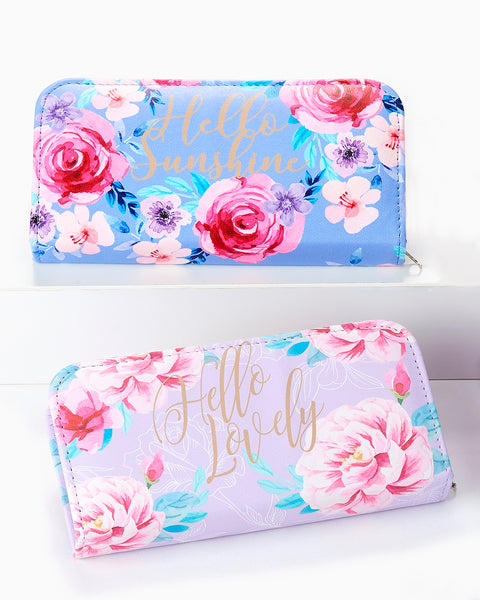 Pink Blue Purple Gold Floral Manicure Nail Set Kit Savvy Chic Boutique Cleveland Ohio
