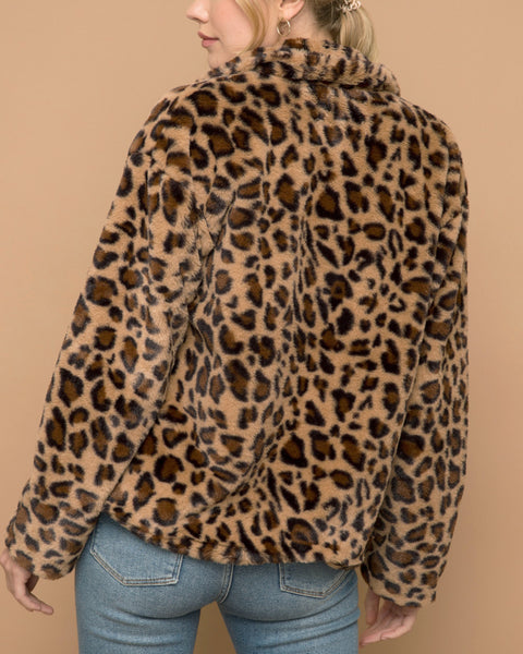 Speechless Faux-Leopard Jacket