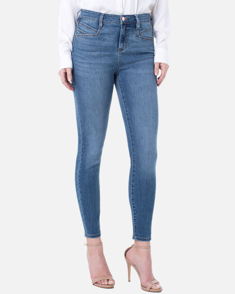 Liverpool Abby High-Rise Ankle Skinny Laine Slant Pockets Jean  Light Wash Cropped Stretch Denim Savvy Chic Boutique Cleveland Ohio