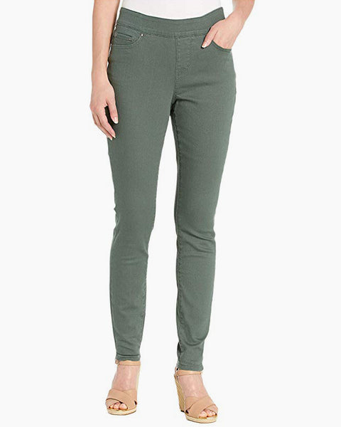 Jag Jeans Maya Skinny Juniper Green Olive Pull-On Stretch Colored Denim Savvy Chic Boutique Cleveland Ohio