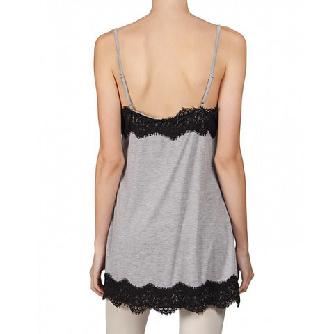 A'revs Grey Black Lace Camisole Tank Top Savvy Chic Boutique Cleveland Ohio