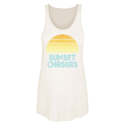 Color Bear Ivory Off White Sunset Sun Summer Graphic Tank Top Savvy Chic Boutique Cleveland Ohio