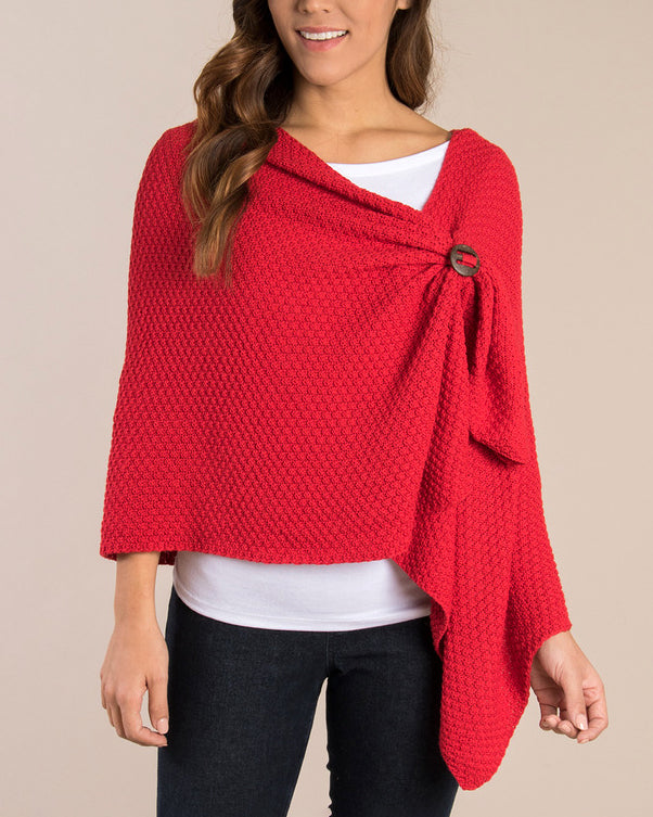 Holiday Knit Bordeaux Wrap
