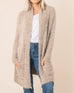 Simply Noelle Taupe Birch Soft Knit Open Cardigan Sweater Savvy Chic Boutique Cleveland Ohio