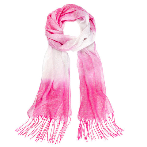 Metallic Ombre Scarf - Pink