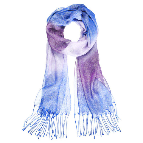 Metallic Ombre Scarf - Purple