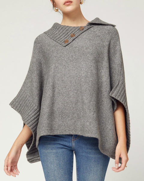 Running Into You Sweater Poncho