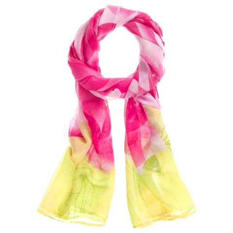 Floral Brights Scarf - Hot Pink