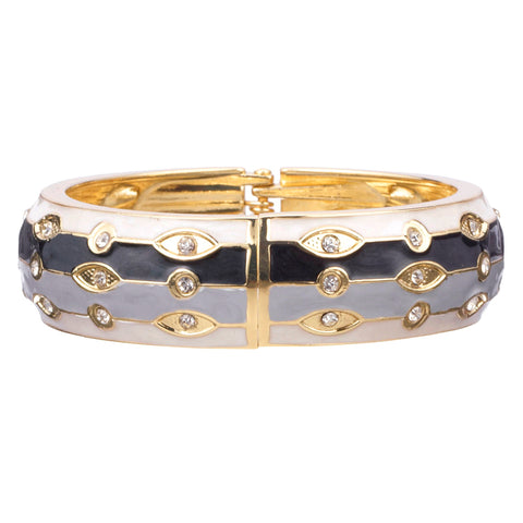 Enamel Crystal Bangle