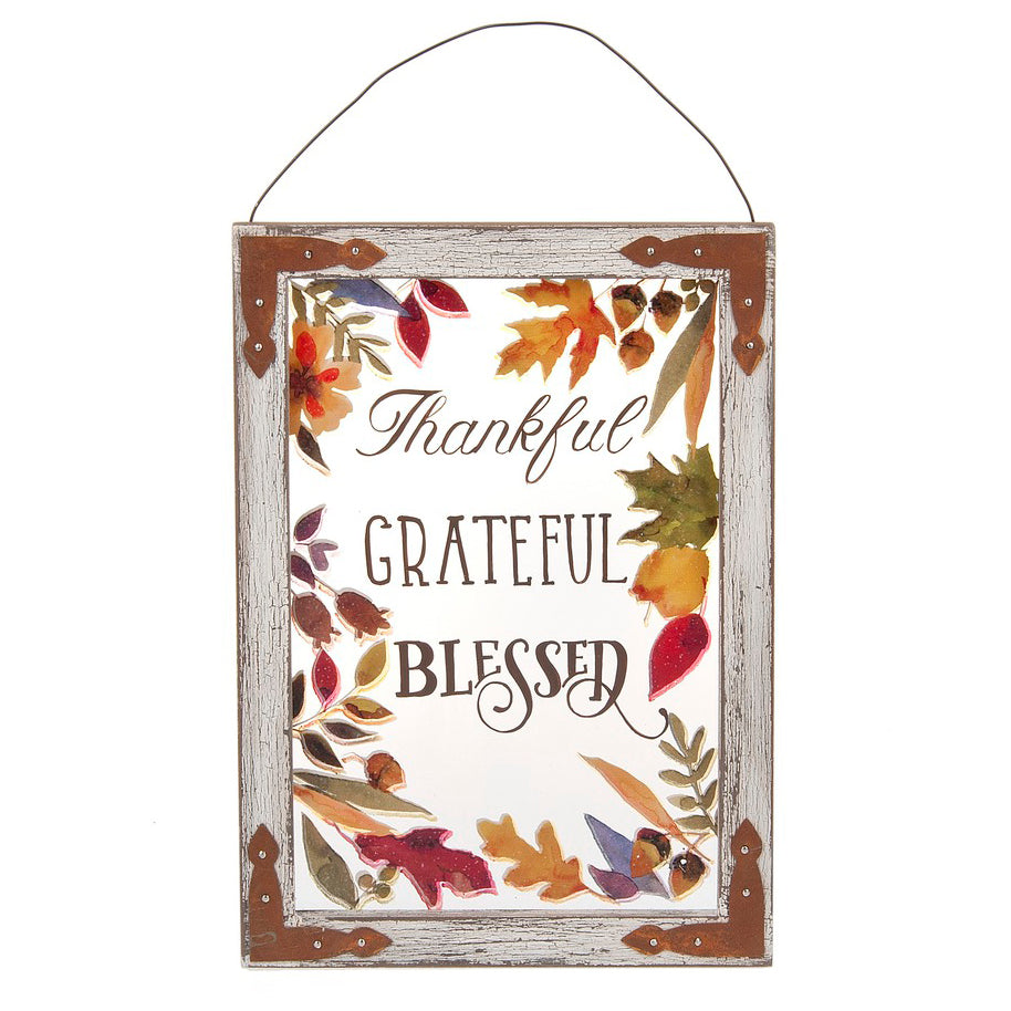 Thankful, Grateful, Blessed Plaque