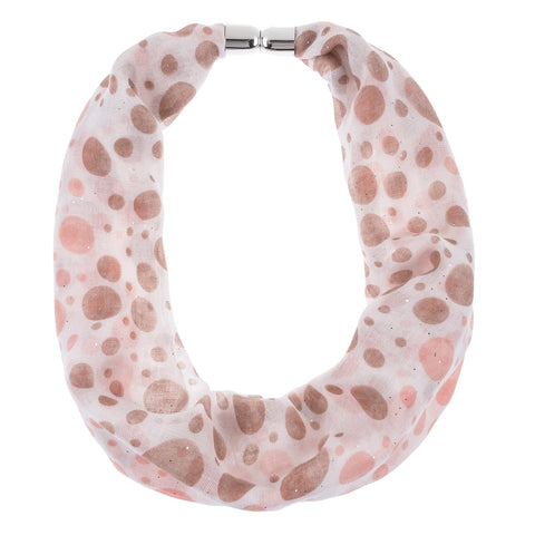 Polka Dot Magnetic Scarf Necklace Accessory