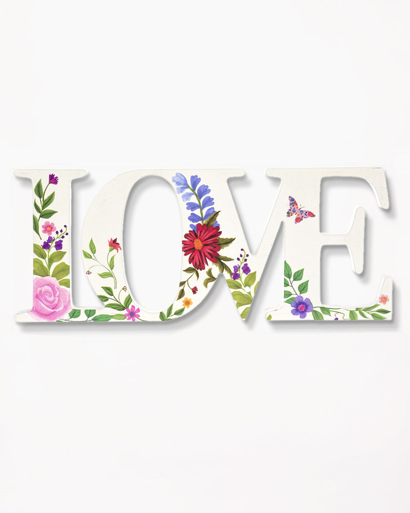 Floral Love Plaque