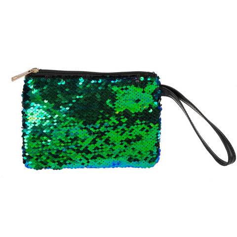 Color-Changing Sequin Cosmetic Bag Green Mermaid Savvy Chic Boutique Cleveland Ohio