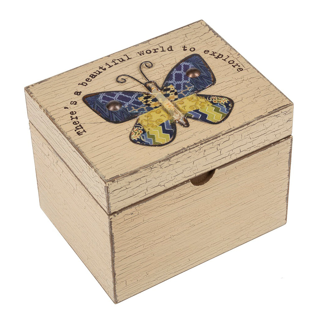 Wooden Butterfly Inspirational Trinket Keepsake Jewelry Nesting Box Savvy Chic Boutique Cleveland Ohio