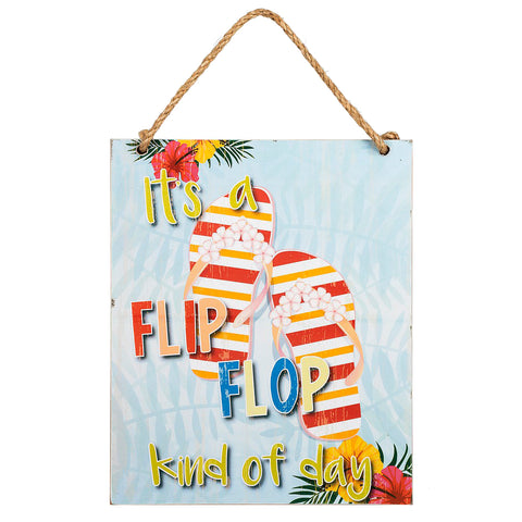 Tropical Beach Flip Flop Plaque Sign Decoration Home Savvy Chic Boutique Cleveland Ohio