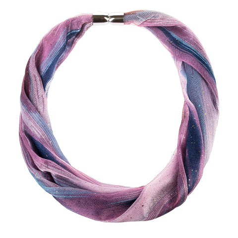 Purple Blue Glitter Shimmer Magnetic Scarf Necklace Savvy Chic Boutique Cleveland Ohio