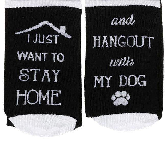 Black White Dog Socks Funny Gift Savvy Chic Boutique Cleveland Ohio