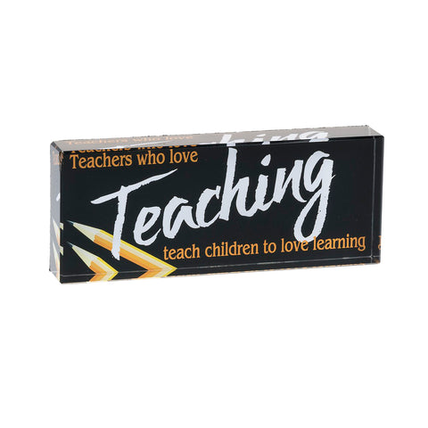 Glass Teacher Paperweight Gift