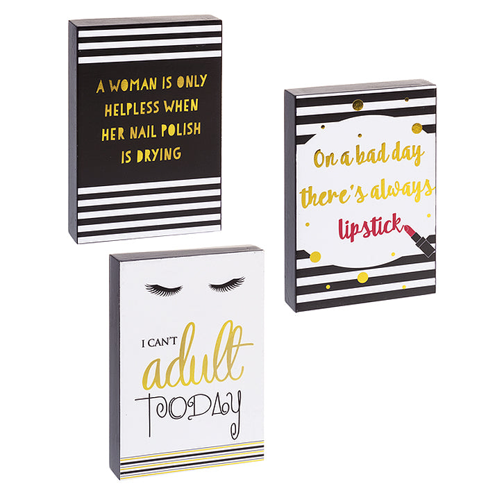 Glamour Funny Phrase Box Plaque Sign Home Office Gift Women