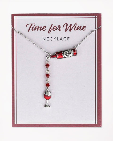 Time for Wine Necklace