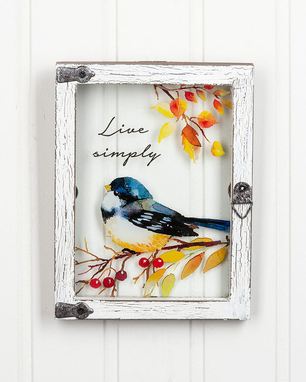 Birds Window Plaque