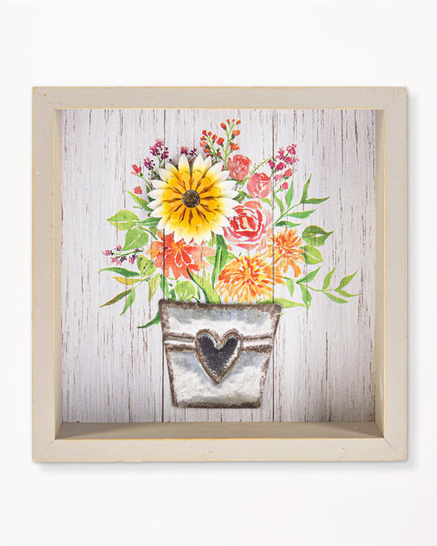 Floral Box Plaque