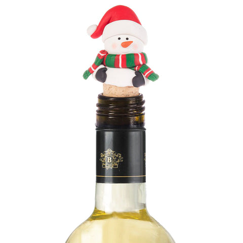 Christmas Holiday Snowman Wine Accessory Bottle Topper Hostess Gift Savvy Chic Boutique Cleveland Ohio
