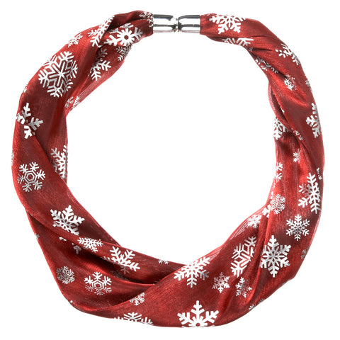 Shimmer Magnetic Scarf - Red