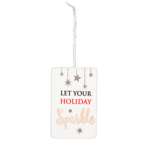 Holiday Sparkle Ornament/Plaque