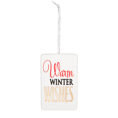 Christmas Holiday Warm Winter Wishes Ornament Decoration