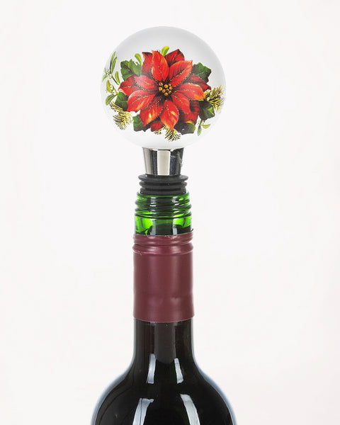 Light Up Poinsettia Bottle Topper