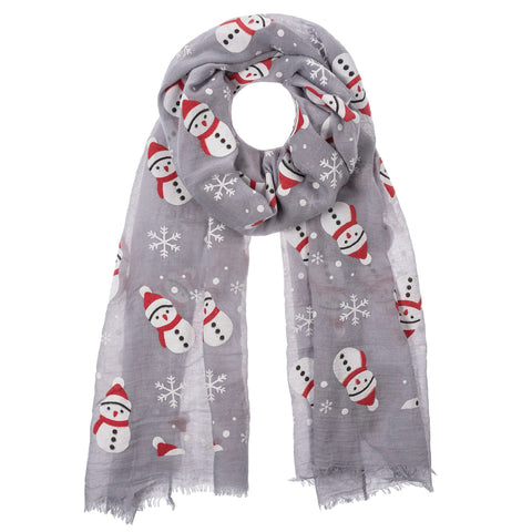 Cheerful Snowman Scarf - 2 Colors