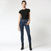 Hidden Jeans Amelia Dark Wash Frayed Released Hem Mid Rise Skinny Savvy Chic Boutique Cleveland Ohio