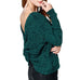 Oddi Hunter Green Chenille Soft Knit Twist Back Sweater Savvy Chic Boutique Cleveland Ohio