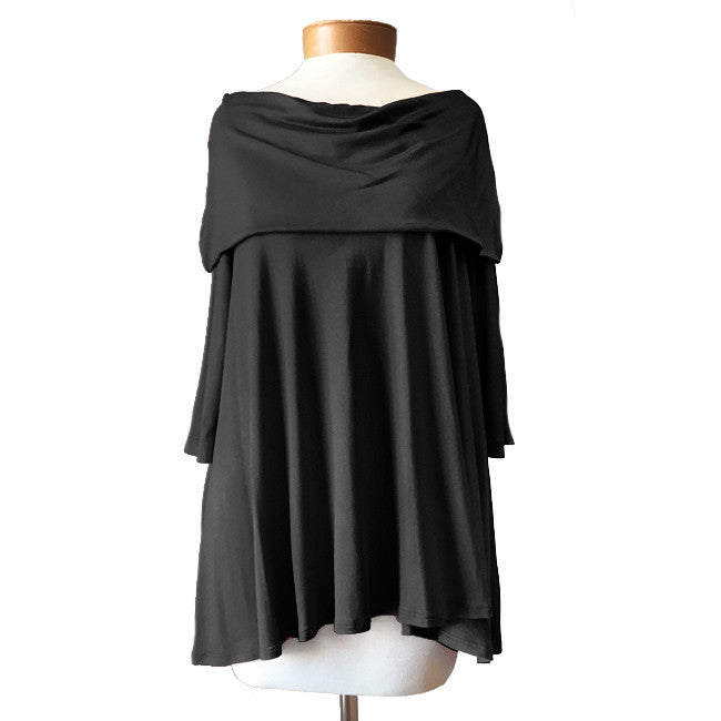 Open Shoulder Top - Black