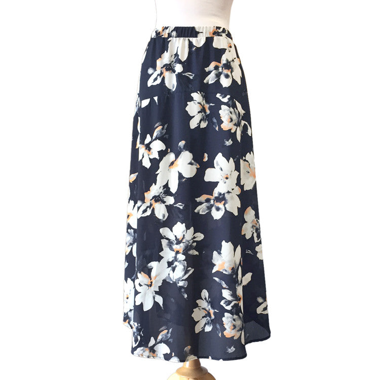 68875a4ceb Floral Chiffon Maxi Skirt – Savvy Chic Boutique | Contemporary ...